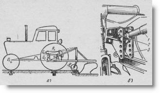 механический догружатель ведущих колес на тракторе