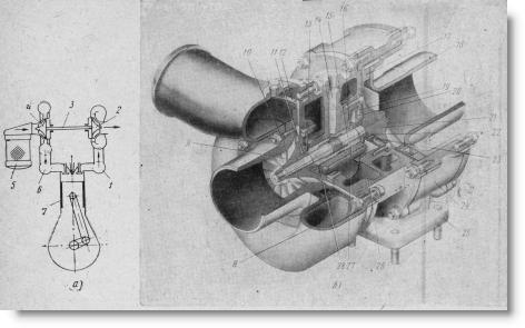 схема турбонаддува двигателя и турбокомпрессор СМД-ТКР-ПН