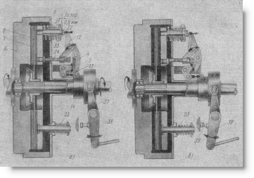 схема действия муфты сцепления двигателя СМД-15К на комбайне