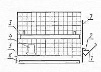 Схема клетки для бройлеров