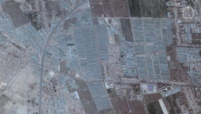 Вид на теплицы в Китае из космоса