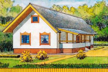 Одноэтажный трёхкомнатный дом для районов с температурой зимой наружного воздуха минус 35°C