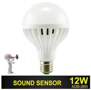 E27 светодиодная лампа с датчиком звука и датчиком движения