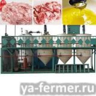Оборудование для производста животного жира пищевого, технического и кормового из жира-сырца, сала