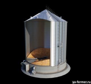 Силос с плоским дном производства Агропромтехника