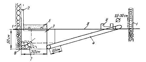 Схема гнезда для сурков