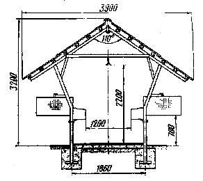 Схема норкового шеда для ондатры