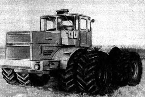 Трактор К-701 со сдвоенными колесами