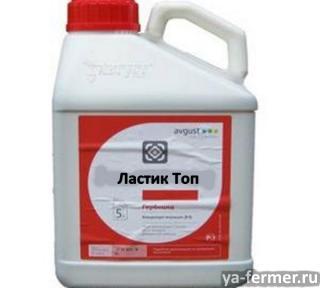 Гербицид Ластик Топ, МКЭ – селективный послевсходовый системный гербицид для защиты яровой и озимой пшеницы от однолетних злаковых сорняков.