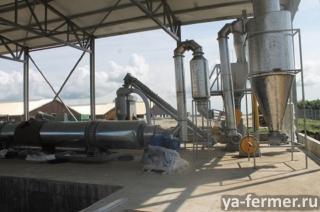 Линия по утилизации птичьего помета и производства удобрения