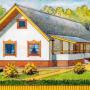 Одноэтажный трёхкомнатный дом для районов с зимней температурой наружного воздуха минус 35°C
