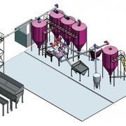 Цех производства комбикорма производительностью 3 т/ч.