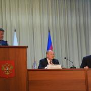 Директор Краснодарского филиала ОАО «Россельхозбанк» Дмитрий Вдовин, выступает на краевом совещании по вопросам организации посевной кампании