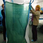 Биг бэг из полипропиленовой ткани и сетки, дно 95х95, высота загрузк 180, низ-люк, верх-открыт.
