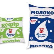 Молочные пакеты с печатью