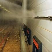 Охлаждение испарением на птицефабриках