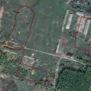 На плане здание свинарника, расположенное в Веневском  районе Тульской области в 167 км от МКАД