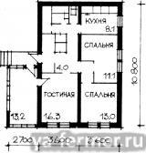 3-комнатныи жилой дом (план)