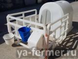 Пластиковые домики с вольером для телят