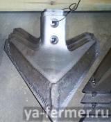 Стрельчатая бронированная лапа Сэлфорд 290 мм, толщина - 8мм