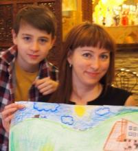 Евгения с сыном